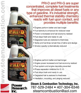 Power Research Inc. PRI G, PRI D Aditivo Ahorre Gasolina