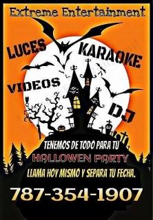 DJ-KARAOKE-VIDEOS-LUCES-PANTALLA Y MAS 787-354-1907