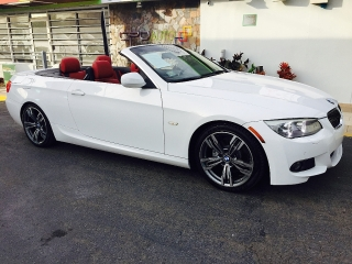 BMW 328i 2011 SPORT PREMIUM CONVERTIBLE INTERIORES ROJOS M-PACKAGE $26,995