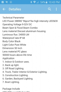 led light for jeep , truck or boat