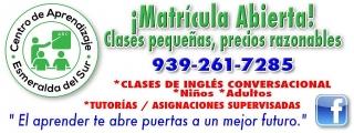 Clases de Inglés - area sur (Patillas)