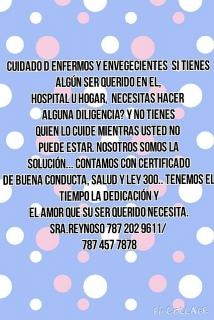 Cuidado enfermos 457 7878 y envegecientes Puerto Rico