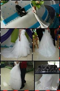 Hermoso traje de novia size 8