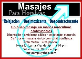 MASAJES MASCULINOS *PROFESIONALES